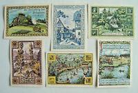 Notgeld Gemeinde Rehmen (SM/Th:Oppurg) 2x 25, 4x 50 Pf, 1921 A,B,C,D,E,F. (2655)