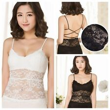 Women Blouse Bandage Bralet Backless Tank Tops Hollow Out  Vest Lace Camisole