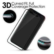Apple iPhone X (10) 3D CURVED BLACK Full Tempered Glass Screen Edge Protector