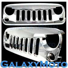 Triple Chrome Jeep JK 07-16 Wrangler Replacement Grille Shell Angry Bird Style