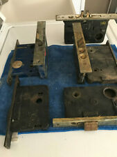 Seven Vintage Mortise Iron Door Locks.- No Key Or Knob