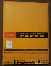 New listing Sealed 5X7 Kodak Double Weight F-4 Kodabromide 25 Sheets F4 Vintage exp 12/68