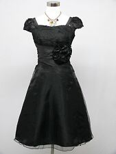 Cherlone Black Prom Ball Evening Bridesmaid Wedding Formal Gown Dress Size 14-16