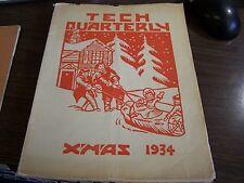 CHRISTMAS 1934  - TECH QUARTERLY  - TECHNICAL H.S. SCRANTON PA - EXCELLENT