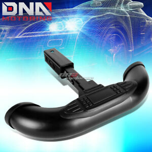 """1.25""""/2""""BLACK TRUCK TRAILER TAILGATE TOWING HITCH RECEIVER COVER STEP BAR GUARD"""