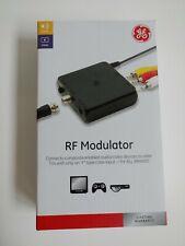 Ge Compact Rf Modulator, Audio Video to Older Tv, Black, 34138