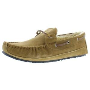 Minnetonka Mens Tyler Trapper Brown Sd Moccasin Slippers 11 Medium (D) BHFO 5722