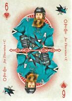 2018-19 O-Pee-Chee Playing Cards #6-HEARTS Joe Thornton San Jose Sharks