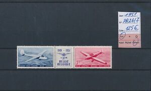 LN67751 Belgium 1951 airmail aviation airplanes fine lot MNH cv 125 EUR