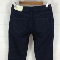 NWT Ann Taylor LOFT Modern Straight womens size 6 stretch dark wash low jeans