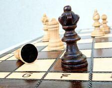 Schach edles Olympisches Schachspiel aus Kirschholz Schachbrett Handarbeit 35x35