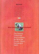 Sony  Stamina Camcorder 1998 Magazine Advert #3110