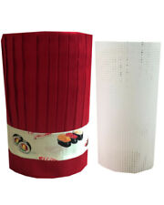 3pcs Popular custom hibachi chef tall hat, headband and plastic net, Teppan chef