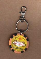 Las Vegas Lucky Chip $1 Million Casino Chip Keyring Yellow