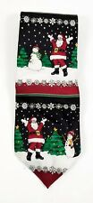 Holidays Christmas Santa Snowman Tree Snowflakes Mens Tie  RN51093 58 in x 4 in