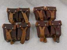(4) Pack of Ussr Soviet Army Military Surplus Mosin-Nagant Leather Ammo Pouches