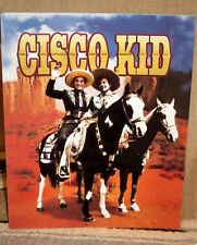 "Cisco Kid and Poncho Poster Western Tabletop Display Standee 10"" Tall"