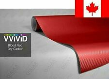 "Red Carbon Fiber 60"" x 1ft Car Wrap Vinyl Roll with Air Release 3MIL-VViViD"