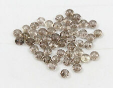 Natural SMOKY QUARTZ faceted rondelle bead / strand 6mm(w) x 4mm(l) - 50 beads