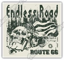 Endless Road Route 66 Biker Bike Gift Idea Car Bumper Vinyl Sticker Decal 4.6""