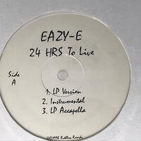 """Eazy E 24 Hours To Live Vinyl Record Original 90s Hip Hop Promo Sealed 12"""""""