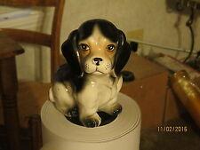 Vintage Beagle Dog Vase Planter/ Japan