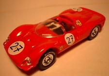 qq SCX SPAIN SCALEXTRIC ALTAYA COCHES MITICOS FERRARI GT 330 No 27 RED LTED. ED.