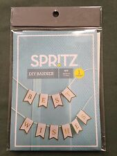 "Spritz DIY Banner 4ft 6"" Create Your Own Wedding Birthday Baby Shower Lot of 2"