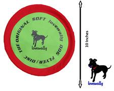 "Soft Bite Dog Toy Flyer Floppy Disc Gentle Fetch Frisbee 10"" Medium"