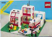 INSTRUCTIONS ONLY LEGO EMERGENCY HOSPITAL 6380 medical manual book from set