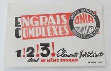 BUVARD ENGRAIS COMPLEXES - Office National Industriel de l'Azote ONIA TOULOUSE