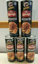 5 Pringles Wendys Baconator Chip 5.5 oz Cans Limited Edition Bacon BB 07/23/2021