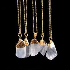 Reiki Natural Gemstone Stone Crystal Quartz Healing Chakra Pendant Necklace