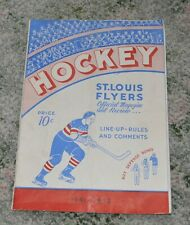 1941-42 St. Louis Flyers Hockey Program