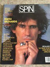 Spin Magazine, October 1985 Keith Richards Underground Alternative Music Zine