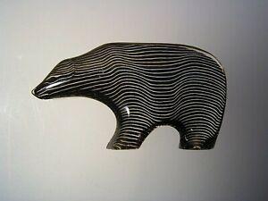 Abraham Palatnik Kinetic Art Lucite Polar Bear Sculpture MCM Brazil Op Art 60's