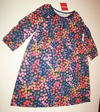 NEW Hanna Andersson Girls 140 or 10 Year Purple Floral Dress Knit Cotton
