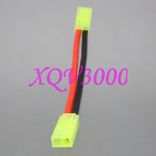 Mini Tamiya Female to Female 14AWG 10CM Wire For Airsoft Battery / Charger