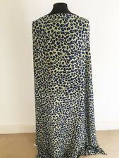 Printed Leopard /Animal Design on Polyester Georgette Dressmaking Fabric-1.8mts