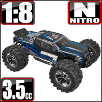 Redcat Racing Earthquake 3.5 1/8 Scale 4x4 Nitro Monster RC Truck Blue Black NEW