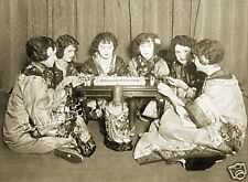 1920's WOMEN ORIENTAL DRESS MAH JONGG CANVAS PHOTO ART