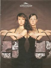 PUBLICITE ADVERTISING 2003 LONGCHAMP Les Sacs pour la  Femme