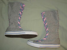 CONVERSE ALL STAR KIDS 2 XX HI GREY PINK PURPLE STRIPES GRAY SO CUTE!!