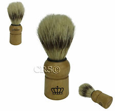CHRISTENSEN SHAVING BRUSH 100% NATURAL BRISTLE ANTIQUE HARDWOOD STRAIGHT RAZOR