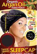 MAGIC ORGANIC ARGAN OIL TREATED PRODUCT WIDE BAND SLEEP CAP #3001BLA