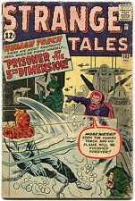 Rare JACK KIRBY STAN LEE Dual Signed December 1962 STRANGE TALES #103 Torch GAI