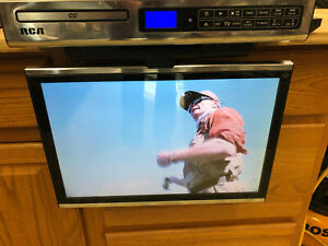 """RCA SPS36123 15.4"""" LCD under cabinet television tv Dvd player Flip down FM"""