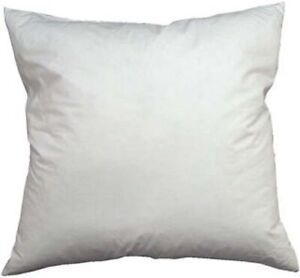 Luxury 30 x 30 Single Pillow Insert Overstuffed with Down and Feathers made USA