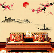 Chinese Style Wall Stickers Floral Vinyl Home Art Room Removable Decor Mural