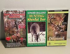 Deer Hunting Vhs Video Tapes Lot Tree Stand Hunting, Bow hunting Whitetail Deer